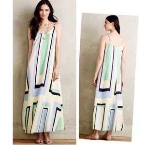 ✨ANTHRO✨Maeve Geometric Print Maxi Dress